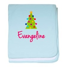 Christmas Tree Evangeline baby blanket