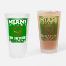 Miami City Limits Drinking Glass