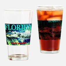 Florida Alligator I Eat Pussy Drinking Glass