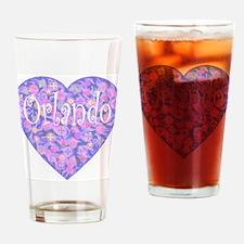 Orlando: Land of Flowers Drinking Glass