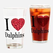 I Love Dalphins Drinking Glass