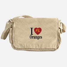 I Love FL Oranges Messenger Bag