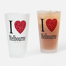 I Love Melbourne Drinking Glass