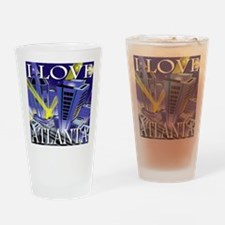 I Love Atlanta Spotlights Drinking Glass