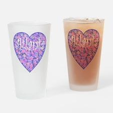 Atlanta Heart Drinking Glass