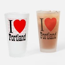I Love Portland Drinking Glass