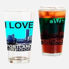 I Love Portland, Oregon Drinking Glass