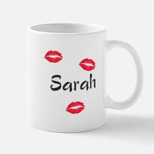 Sarah kisses Mug