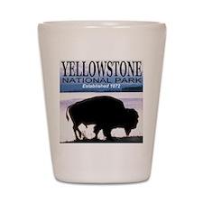 Bison Yellowstone National Pa Shot Glass