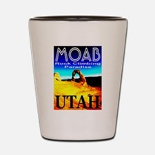 Moab, Utah Rock Climbing Para Shot Glass