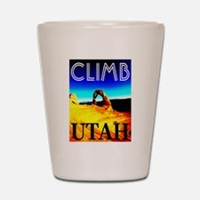 Climb Utah Shot Glass
