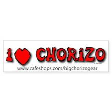 I Love Chorizo Bumper Bumper Bumper Sticker