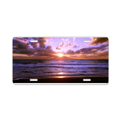 Turtle Beach Sunset Aluminum License Plate