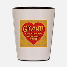 Grand Canyon NP Golden Snowfl Shot Glass