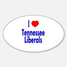 I Love Tennessee Liberals Oval Decal