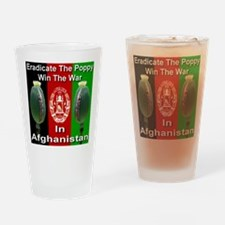 Eradicate The Poppy Drinking Glass