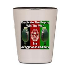 Eradicate The Poppy Shot Glass