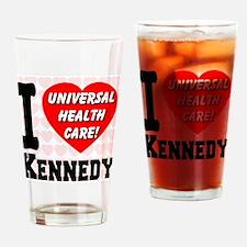 I Love Kennedy Universal Heal Drinking Glass
