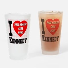 I Love Kennedy Pass Health Ca Drinking Glass