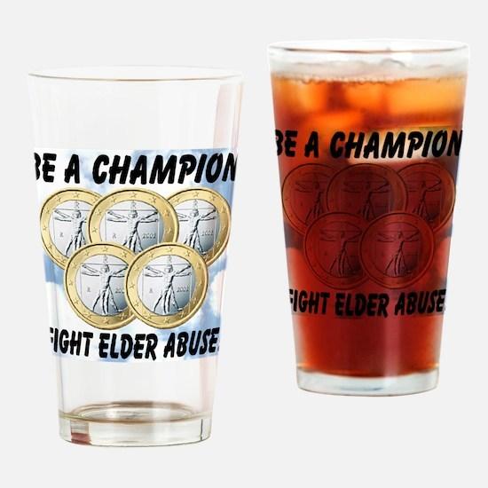 Be A Champion Fight Elder Abu Drinking Glass