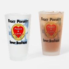 Fight Poverty Support MicroFi Drinking Glass