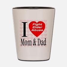 Fight Elder Abuse Shot Glass