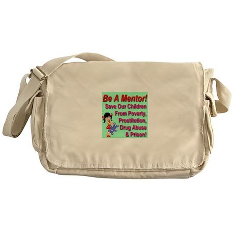 Be A Mentor Pastel Green Messenger Bag