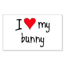 I LOVE MY Bunny Decal