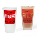 RED ALERT STOP HIV-AIDS Drinking Glass