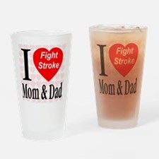 Fight Stroke Drinking Glass