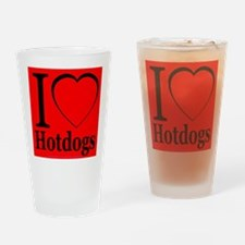 I Love Hotdogs Drinking Glass