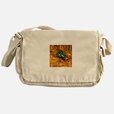 Green Bottle Fly Messenger Bag