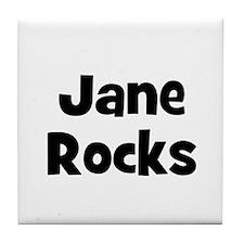 Jane Rocks Tile Coaster