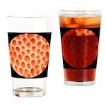 Spongy Cap Mushroom 20X Drinking Glass