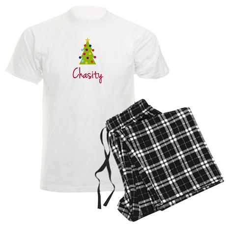 Christmas Tree Chasity Men's Light Pajamas