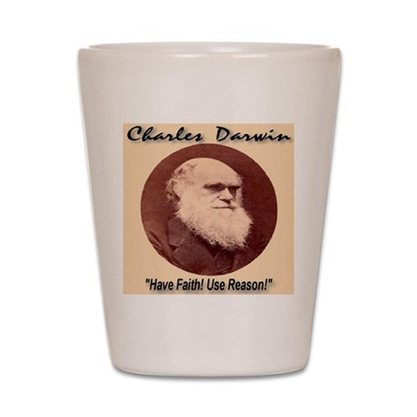 Charles Darwin Shot Glass