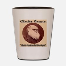 Charles Darwin Shot Glass