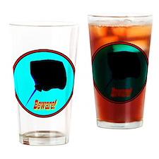 Beware Stingray Drinking Glass