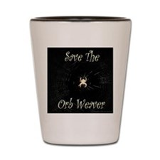 Save the orb weaver Shot Glass