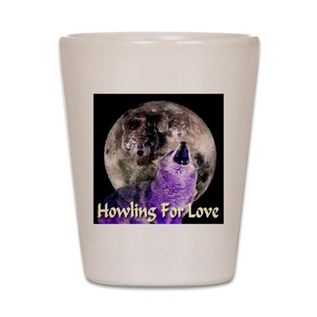 Howling For Love Shot Glass