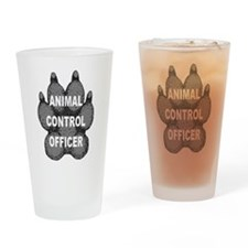 Animal Control Officer Drinking Glass
