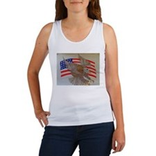 American Patriot Eagle with F Women's Tank Top