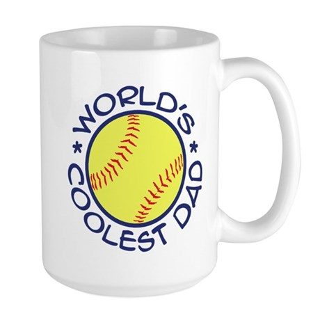 World's Coolest Softball Dad Large Mug