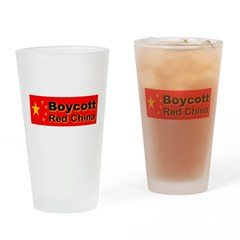 Boycott Red China! Drinking Glass