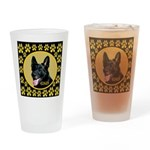 Solid Black GSD Drinking Glass