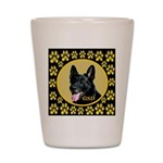 Solid Black GSD Shot Glass