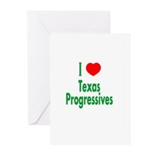 I Love Texas Progressives Greeting Cards (Package