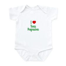 I Love Texas Progressives Infant Creeper