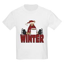 Ice Skating Bear Kids T-Shirt