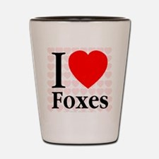 I Love Foxes Shot Glass